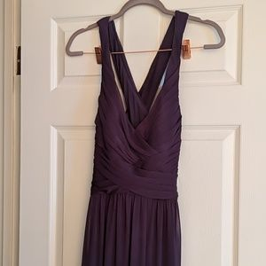 Lapis David's Bridal Cross-back Bridesmaid Dress